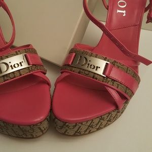 Christian Dior DIORISSIMO Wedge Shoes Size 6